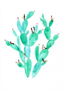 green-cacti
