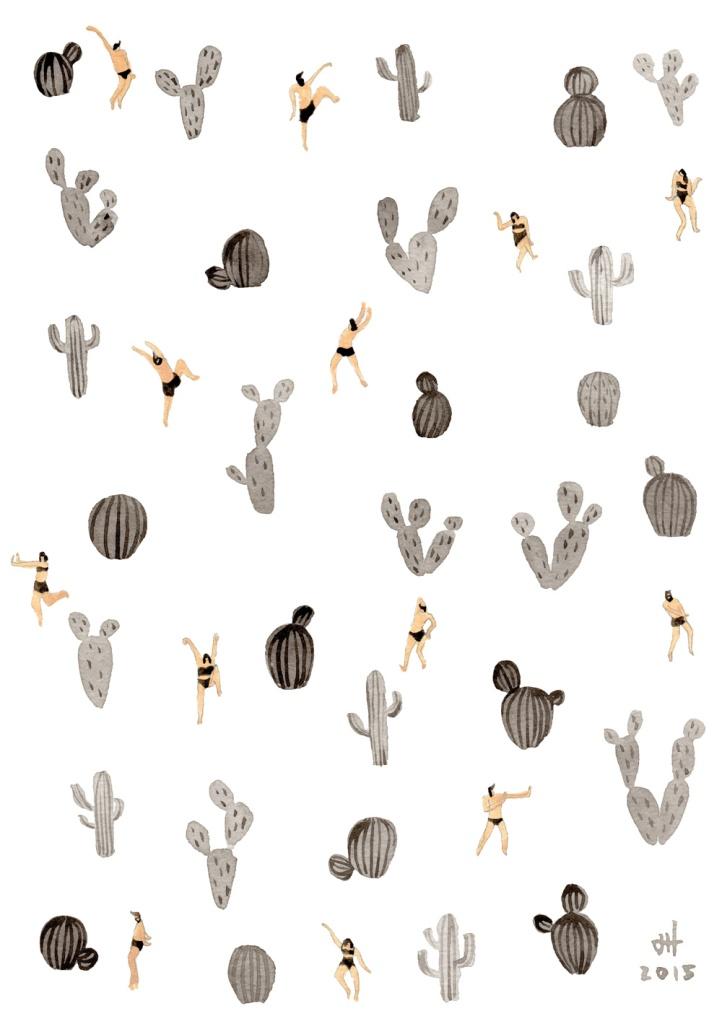 black-and-white-desert